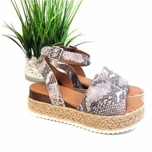 HELLO SPRING Comfy Wedges  - SNAKE PRINT